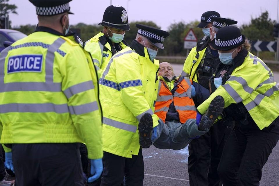 Environmental activists blocking the M25 now face 'possible imprisonment' (Steve Parsons/PA) (PA Wire)