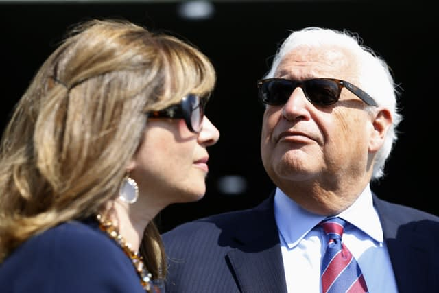 United States Ambassador to Israel David Friedman and his wife Tammy attend the inauguration of the new settlement