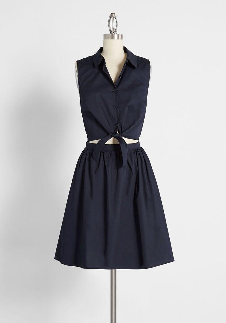 <p>This <span>Flocking For the Festivities Shirt Dress</span> ($65) looks cute with sneakers.</p>