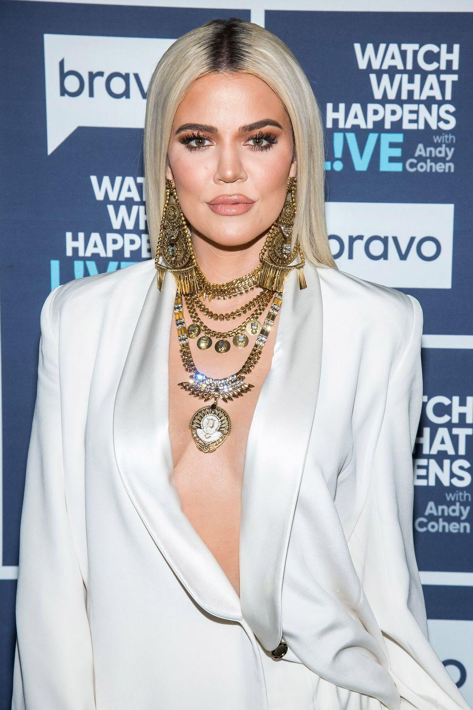 """<p>Though Koko has <a href=""""https://www.dailymail.co.uk/tvshowbiz/article-3508148/My-face-f-ed-Khloe-Kardashian-admits-facial-fillers-went-wrong-look-crazy.html"""" rel=""""nofollow noopener"""" target=""""_blank"""" data-ylk=""""slk:admitted to getting facial fillers"""" class=""""link rapid-noclick-resp"""">admitted to getting facial fillers</a>, she denied rumors that she got a nose job. In an interview with <em><a href=""""https://www.cosmopolitan.com/style-beauty/beauty/news/a54689/khloe-kardashian-is-for-plastic-surgery/"""" rel=""""nofollow noopener"""" target=""""_blank"""" data-ylk=""""slk:Cosmopolitan"""" class=""""link rapid-noclick-resp"""">Cosmopolitan</a></em>, Khloé claimed that she was """"a fan of plastic surgery,"""" but she believes people should go through """"proper channels first.</p><p>""""Plastic surgery should be viewed almost like makeup, because we're all putting on a f*cking mask basically every day anyway,"""" she said.</p>"""