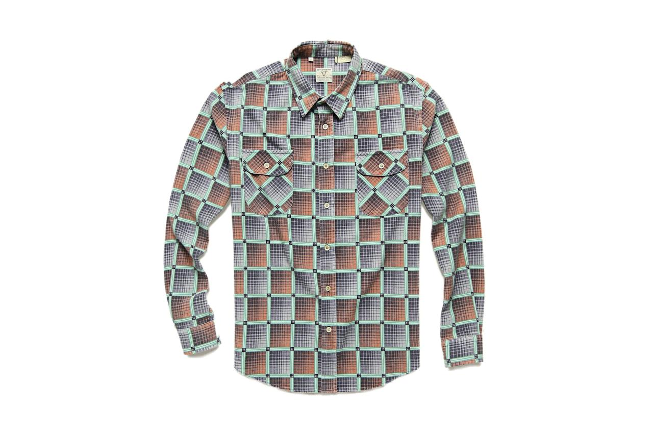 """$195, Stag Provisions. <a href=""""https://stagprovisions.com/collections/sale-long-sleeve-shirts/products/levis-vintage-clothing-l-s-shorthorn-shirt-ss19"""">Get it now!</a>"""