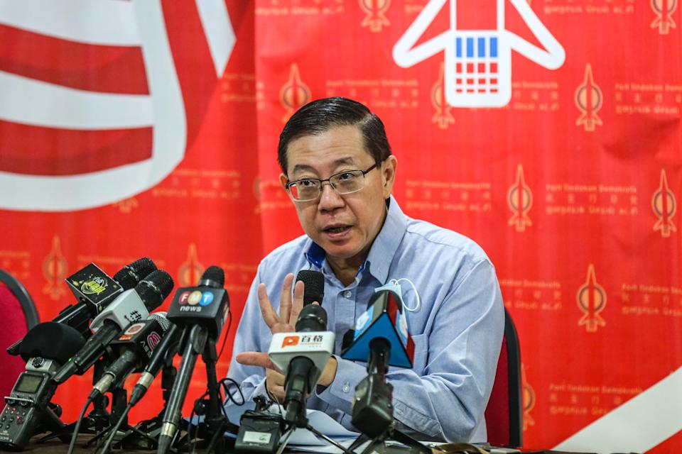 DAP secretary general Lim Guan Eng speaks during a press conference in Kuala Lumpur August 28, 2020. — Picture by Firdaus Latif