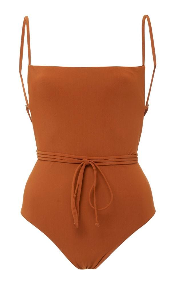"""<p>Anemos The K.M. One Piece, $250, <a href=""""https://anemosswim.com/collections/one-pieces/products/the-k-m-tie-one-piece?variant=32448640548913"""" rel=""""nofollow noopener"""" target=""""_blank"""" data-ylk=""""slk:available here"""" class=""""link rapid-noclick-resp"""">available here</a> (sizes XS-XL). </p>"""