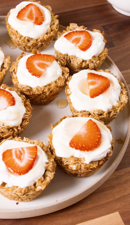 "<p>These crunchy granola cups let you eat your morning yogurt spoon-free.</p><p>Get the recipe from <a href=""https://www.delish.com/cooking/recipe-ideas/recipes/a48755/granola-cups-recipe/"" rel=""nofollow noopener"" target=""_blank"" data-ylk=""slk:Delish"" class=""link rapid-noclick-resp"">Delish</a>.</p>"