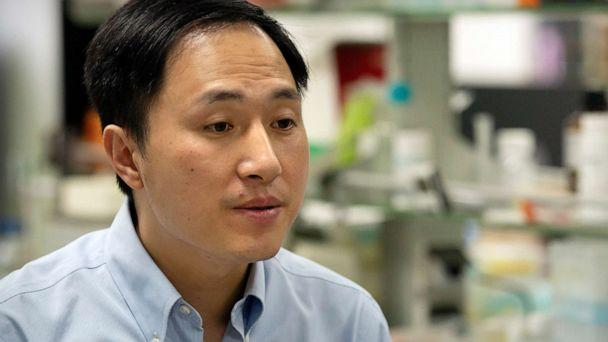 PHOTO: Chinese scientist He Jiankui speaks during an interview at his laboratory in Shenzhen in southern China's Guangdong province, Oct. 10, 2018. (Mark Schiefelbein/AP, FILE)
