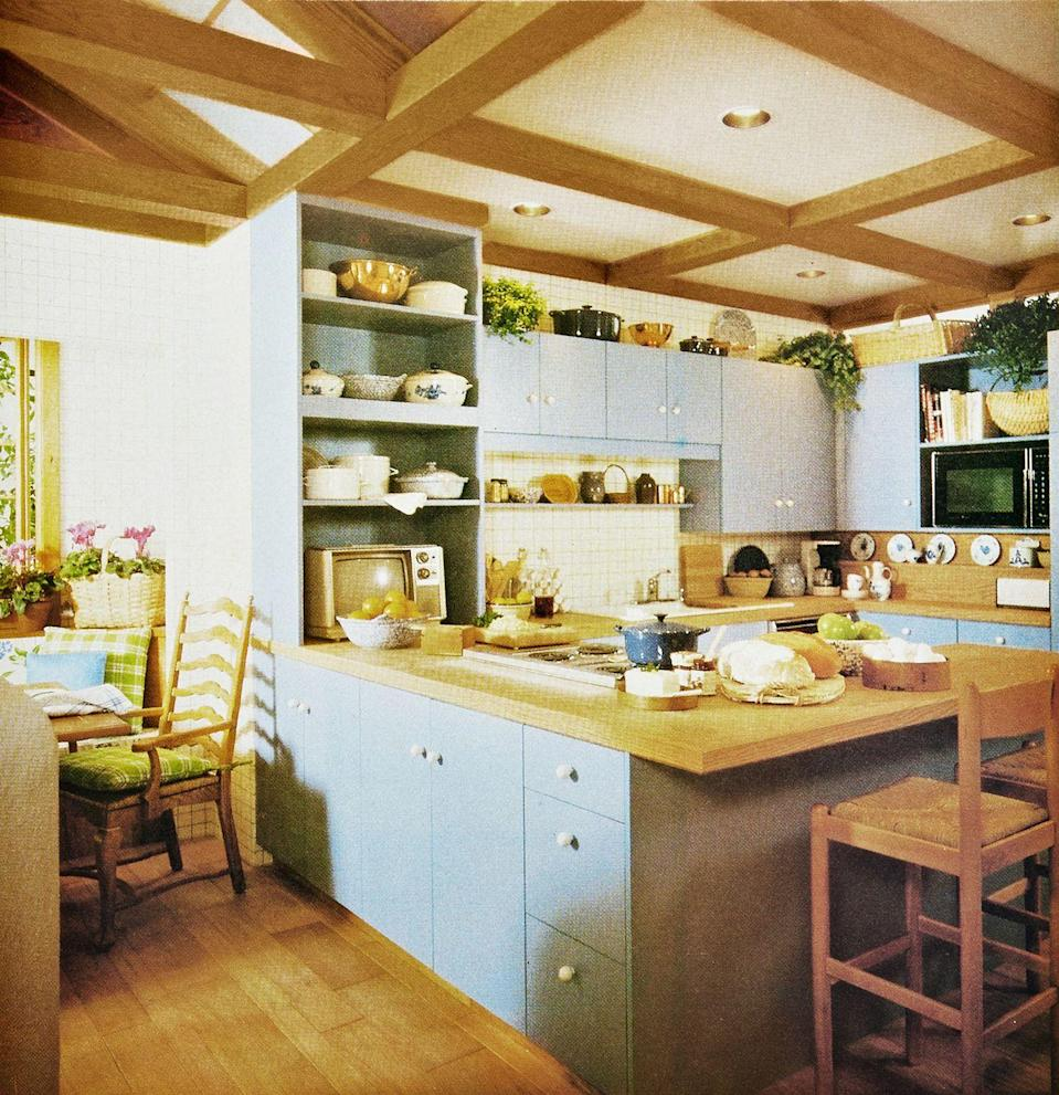 <p>Light colors, high ceilings, beams, and pale woods have a soothing, home-y look.</p>