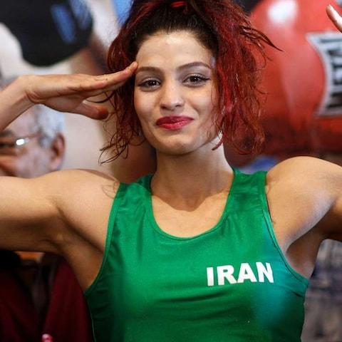Sadaf Khadem is worried she is in trouble for not wearing a hijab at a boxing bout in France