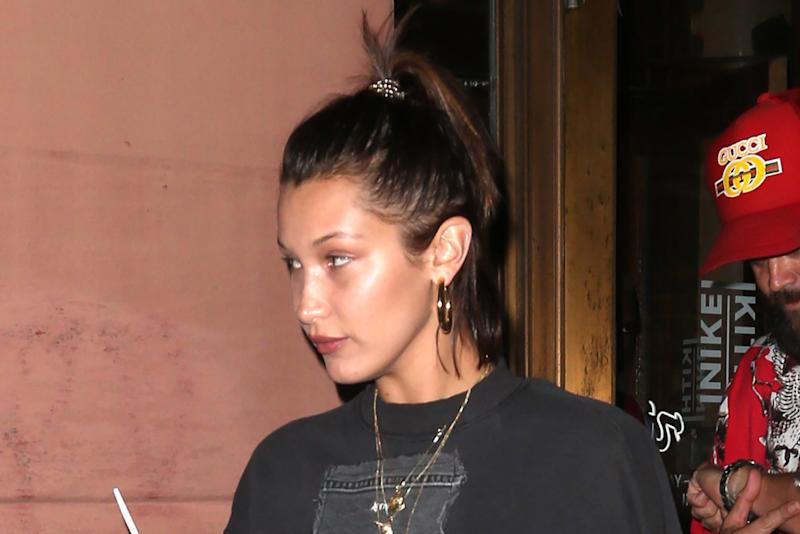 Bella Hadid Wore Unreleased Off White x Nike Sneakers for a