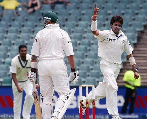 Image result for 5/40 vs SA, 1st Test - Johannesburg (2006)