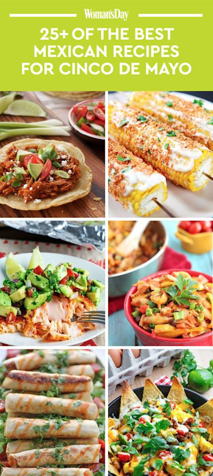 """<p>Save these spring Cinco de Mayo recipesfor later by pinning this image, and follow<i>Woman's Day</i>on<a rel=""""nofollow"""" href=""""https://www.pinterest.com/womansday/"""">Pinterest</a>for more.<span></span></p>"""