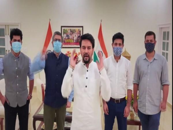 Anurag Thakur cheers for Indian athletes in Olympics