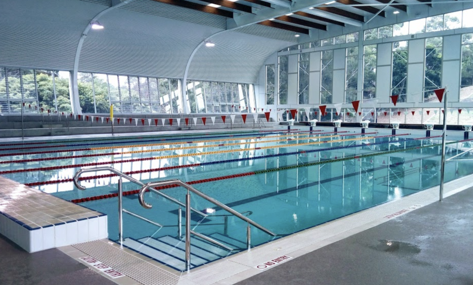 An indoor swimming pool at Angelo Anestis Aquatic Centre at Bexley. Source: Google Maps