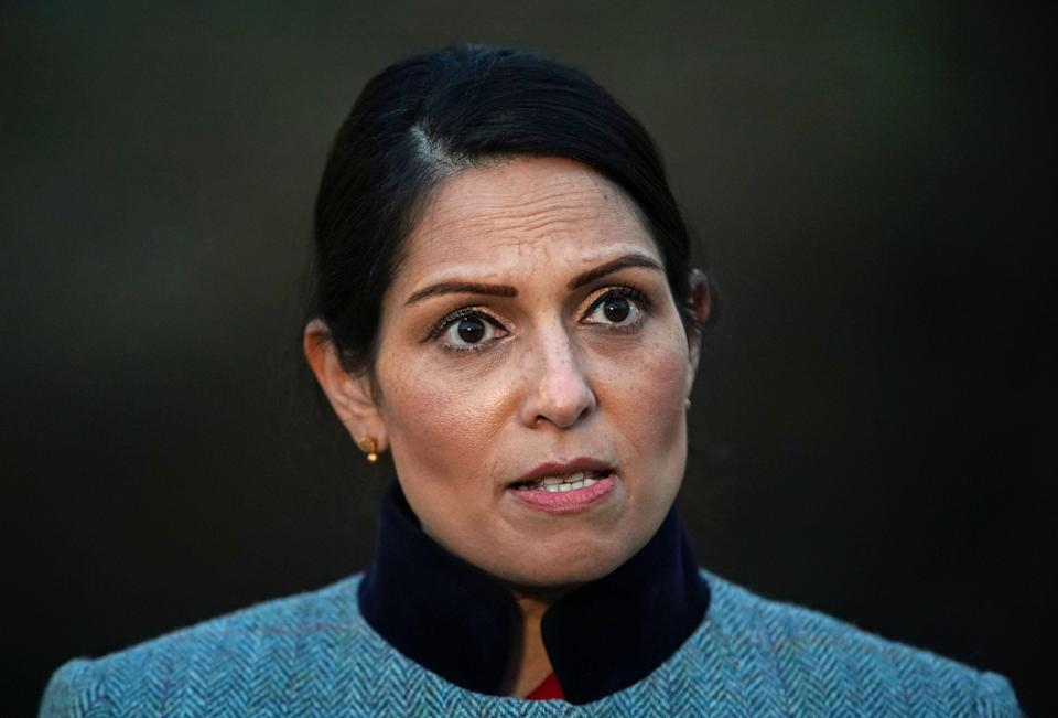 Priti Patel has been looking at how Greece deals with migrants during a two-day trip to the country (Aaron Chown/PA) (PA Wire)