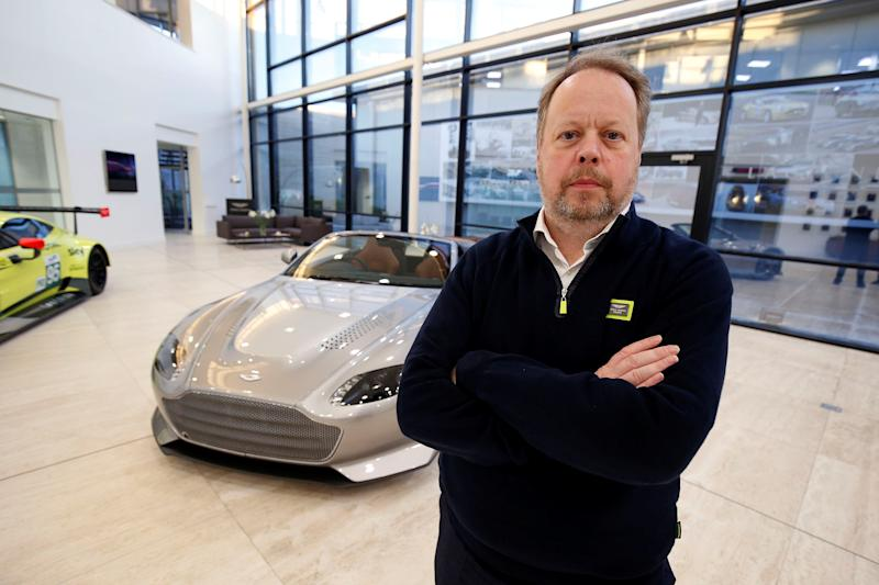 Andy Palmer, CEO of Aston Martin at the company's headquarters in Gaydon, Britain. Photo: Reuters/Andrew Yates