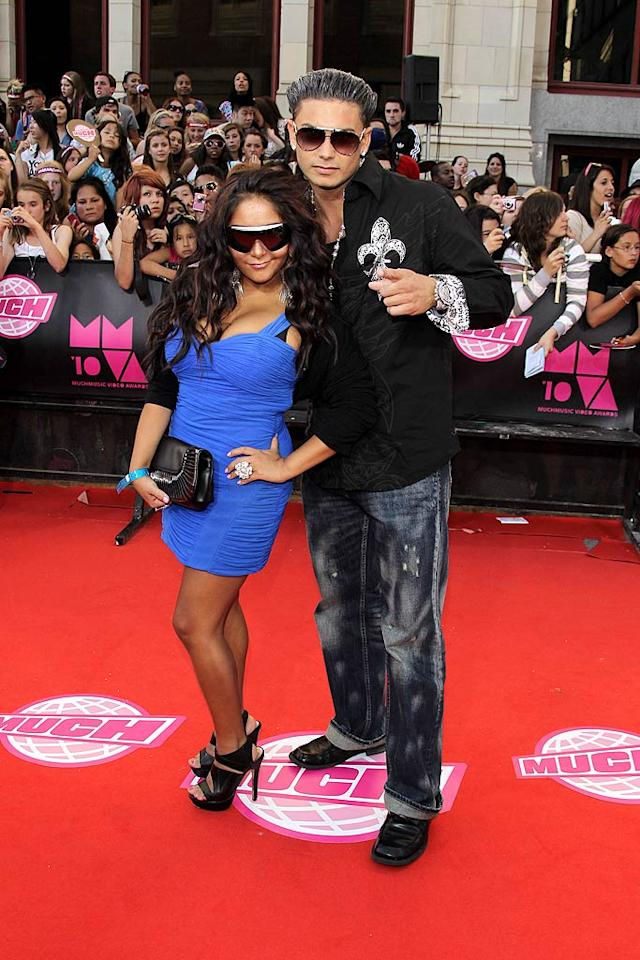 """Leave it to tacky """"Jersey Shore"""" stars Snooki and Pauly D to bring the bling to the party. Check out Snooki's giant ring! George Pimentel/<a href=""""http://www.wireimage.com"""" target=""""new"""">WireImage.com</a> - June 20, 2010"""