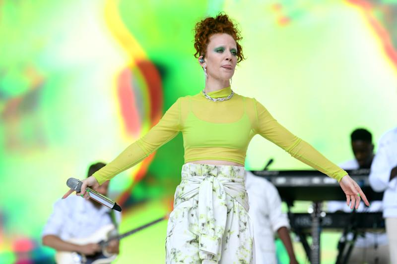 Jess Glynne on stage during Capital's Summertime Ball. The world's biggest stars perform live for 80,000 Capital listeners at Wembley Stadium at the UK's biggest summer party. (Credit: Doug Peters/EMPICS)