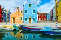 <p>There's no shortage of color by the Burano canals. </p>
