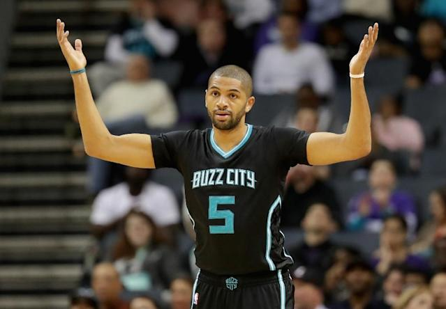 French guard Nicolas Batum averaged 15.1 points, 6.2 rebounds and 5.9 assists last season in his second campaign with the Charlotte Hornets (AFP Photo/STREETER LECKA)