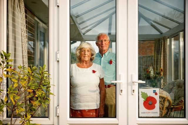Poppy collectors Barry and Tricha Oldham