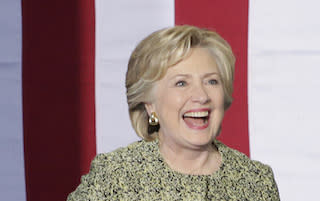 NV: Hillary Clinton attends a campaign rally in Las Vegas