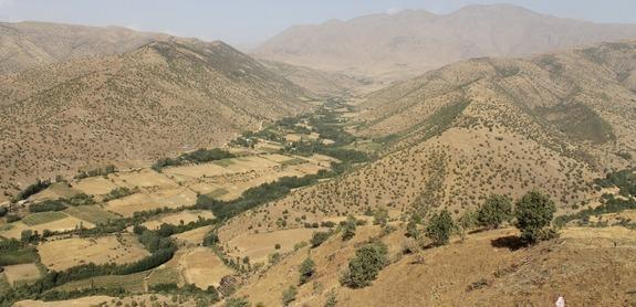 Life-size human statues and the remains of an ancient temple dating back some 2,500 years have been discovered in the Kurdistan region of northern Iraq. The region's hilly environment, shown here.