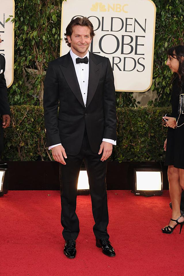 Bradley Cooper arrives at the 70th Annual Golden Globe Awards at the Beverly Hilton in Beverly Hills, CA on January 13, 2013.