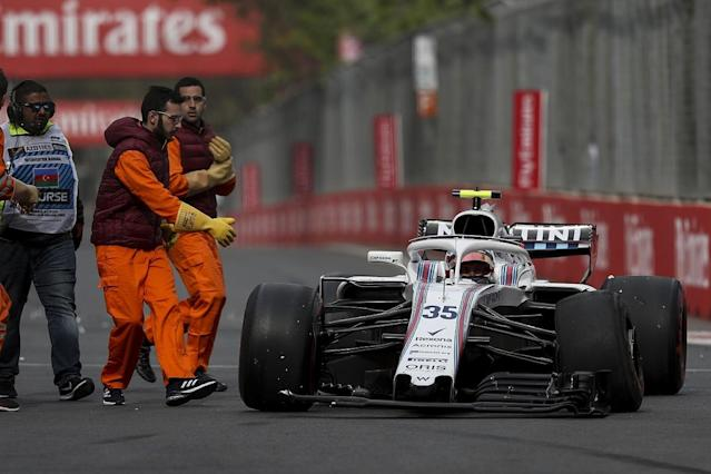 Williams has requested a review of several Formula 1 Azerbaijan Grand Prix decisions, including Sergrey Sirotkin's grid penalty, and questioned Fernando Alonso's recovery of his damaged McLaren to the pits