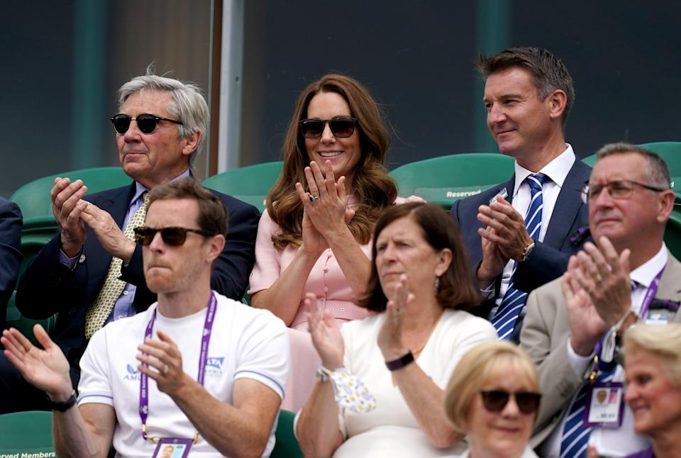 The Duchess of Cambridge was joined by her dad Michael Middleton for the final day of the tournament (PA Wire)