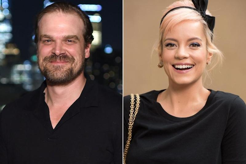 David Harbour and Lily Allen | Dimitrios Kambouris/Getty;