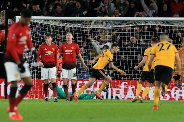 Manchester United lost twice to Wolves at Molineux last season (AFP Photo/Lindsey PARNABY)