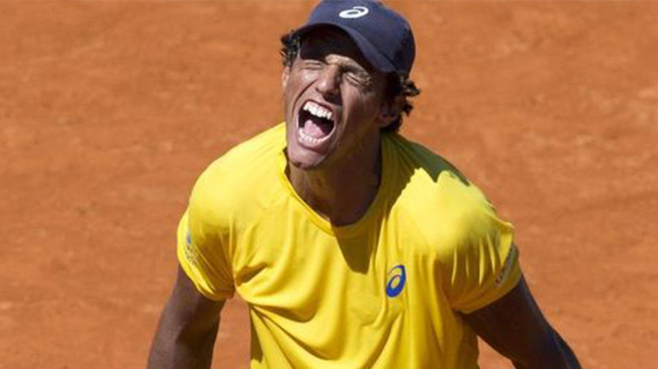Brazilian former world No.69 Joao Souza has been banned from tennis for life for match-fixing. (AAP)