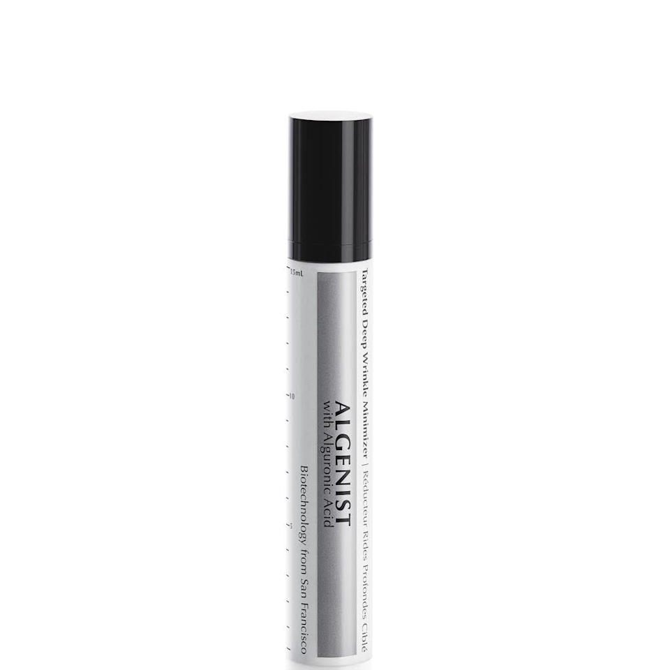 "<p>This product may be small, but it packs a <em>mighty</em> punch against deep wrinkles, thanks to Algenist's own alguronic acid spheres, which expand to fit — and temporarily fill — deep crevices. The result? A super-smooth canvas for makeup. You can say sayonara to foundation settling into lines.</p> <p>$45 (<a rel=""nofollow"" href=""https://shop-links.co/1631746835722635603"" rel=""nofollow"">Shop Now</a>)</p>"