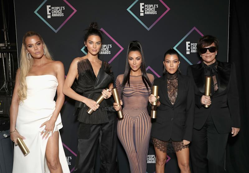 Khloe, Kendall, Kim, Kourtney, and Kris at E! People's Choice Awards