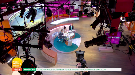 The 'Good Morning Britain' studio on Wednesday March 18. (ITV)
