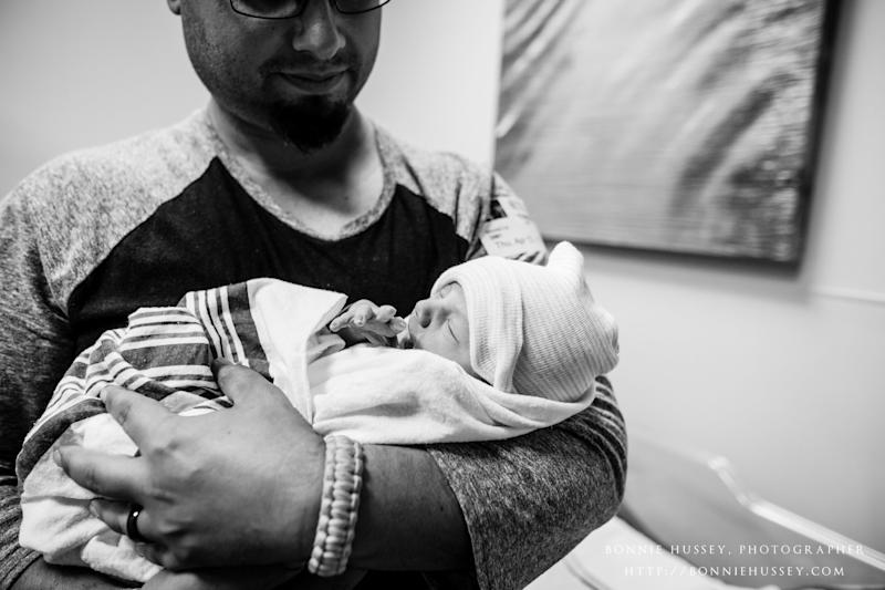 """""""His delivery was confirmation that everything the doctors had told me was true and that he was perfectly healthy,"""" said Crider. (Bonnie Hussey Photography)"""