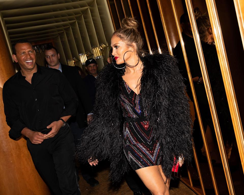 <p>Alex Rodriguez, Jennifer Lopez<br> The Standard and Olivier Rousteing host The Boom Boom Afterparty, New York, USA – 07 May 2018<br> (Photo: Shutterstock) </p>