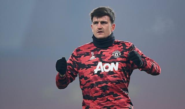Harry Maguire was an unused substitute against Sociedad on Thursday