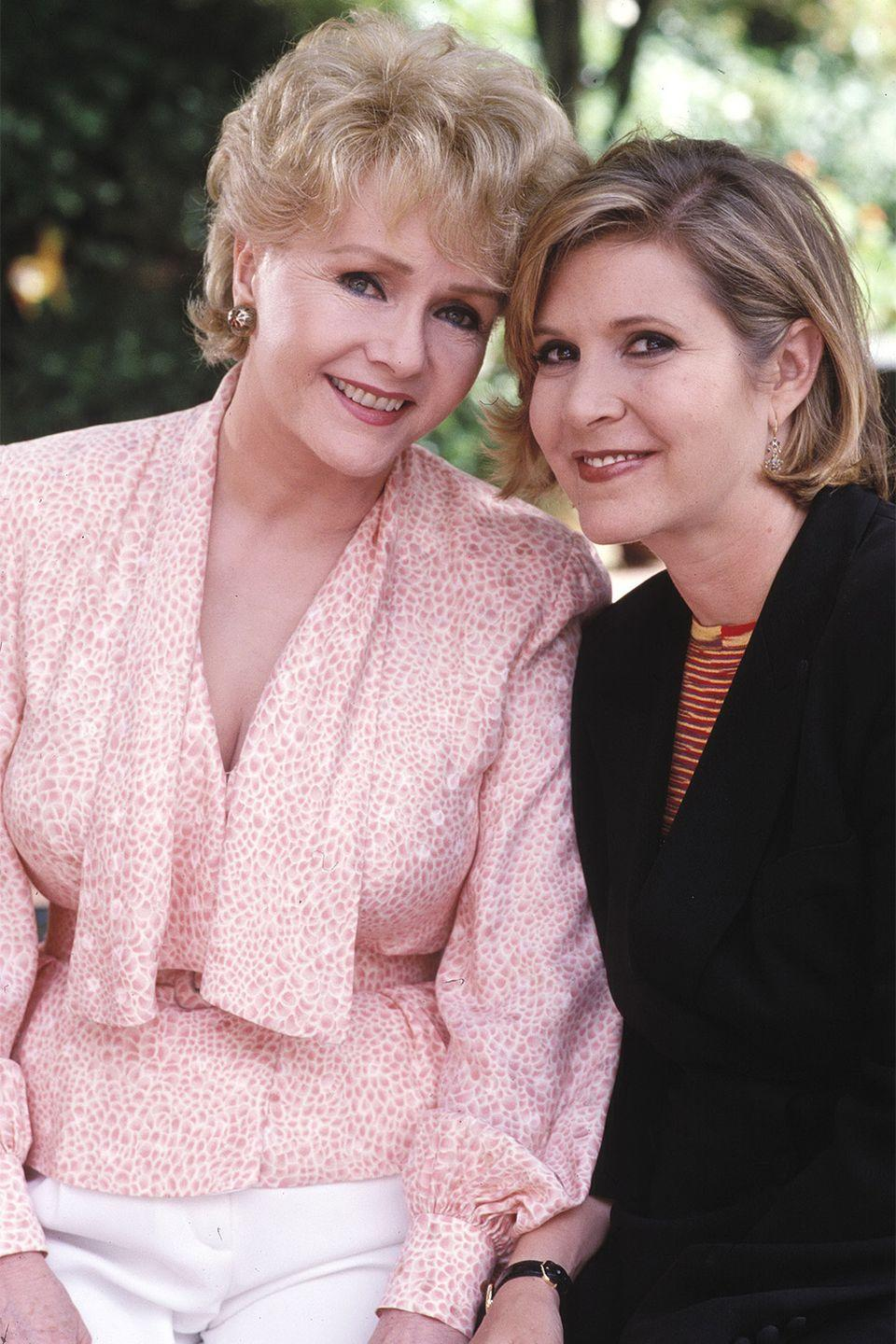 <p>The late Debbie Reynolds passed on not only her wit and talent to her late daughter, Carrie Fisher, but also her natural beauty.</p>