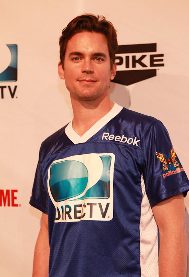 """White Collar"" star Matt Bomer arrives at the DirecTV Celebrity Beach Bowl in Indianapolis."
