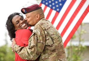 Mrs. Yolanda Goins and Brigade Commander, Col. Morris Goins | Photo Credits: OWN: Oprah Winfrey Network