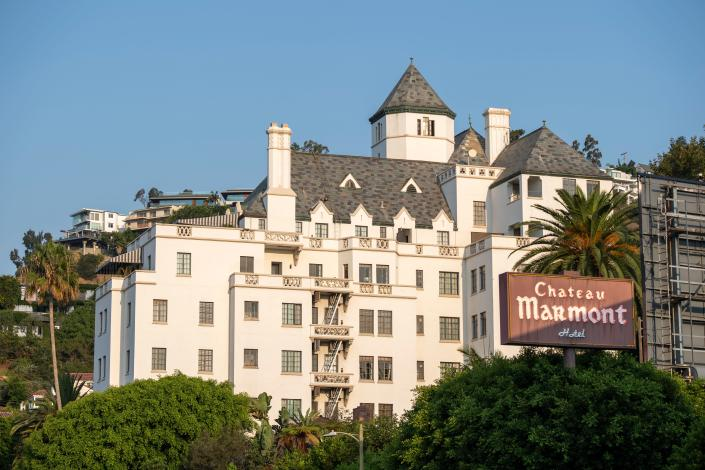 View of Chateau Marmont on Sunset Strip in West Hollywood, Calif.