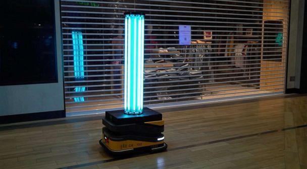 PHOTO: The PBA Group is deploying its 'Sunburst UV Robot' to disinfect malls across Singapore. May 2020 in Singapore. (PBA Group)