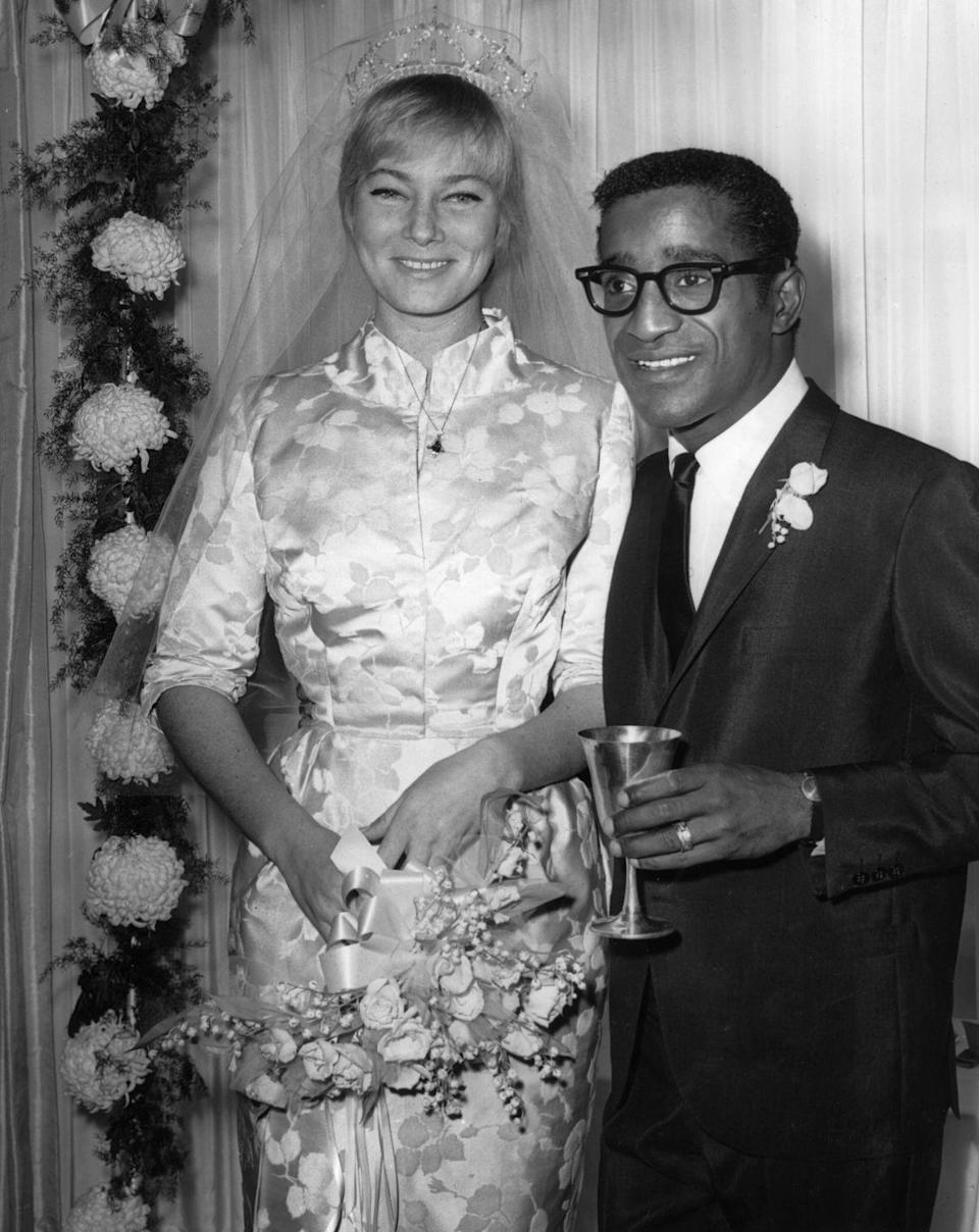 <p>On November 13, 1960, the legendary singer/songwriter married Swedish film actress May Britt in a ceremony held at Davis' Hollywood home. At the time, interracial marriage was still forbidden in over half the U.S. states, but the two forged on, and the marriage lasted until 1968. They both went on to marry once more.</p>