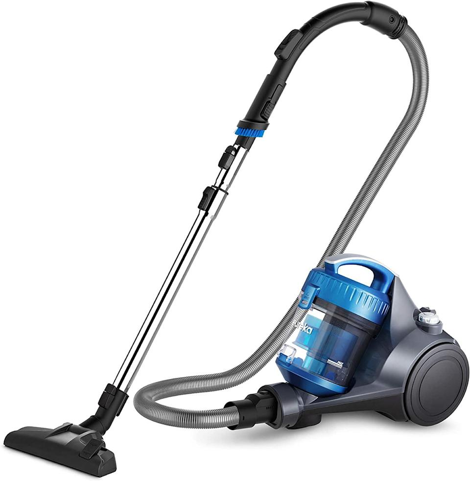 "<h2><a href=""https://www.amazon.com/dp/B07GB4S9H5/"" rel=""nofollow noopener"" target=""_blank"" data-ylk=""slk:Eureka WhirlWind Bagless Lightweight Corded Vacuum"" class=""link rapid-noclick-resp"">Eureka WhirlWind Bagless Lightweight Corded Vacuum</a></h2><br><strong>The Hype:</strong> 4.4 out of 5 stars and 5,668 reviews on Amazon<br><br><strong>Clean Fiends Say:</strong> ""I was skeptical when I was looking to purchase a new vacuum because this was so small and inexpensive. However, this one is the best vacuum I've ever owned!"" – <em>Amazon reviewer</em><br><br><em>Shop <strong><a href=""https://amzn.to/3ncGCzb"" rel=""nofollow noopener"" target=""_blank"" data-ylk=""slk:Amazon"" class=""link rapid-noclick-resp"">Amazon</a></strong></em><br><br><strong>Eureka</strong> Eureka WhirlWind Bagless Lightweight Corded Vacuum, $, available at <a href=""https://www.amazon.com/dp/B07GB4S9H5/ref=sbl_dpx_B00O3JTREY_0"" rel=""nofollow noopener"" target=""_blank"" data-ylk=""slk:Amazon"" class=""link rapid-noclick-resp"">Amazon</a>"