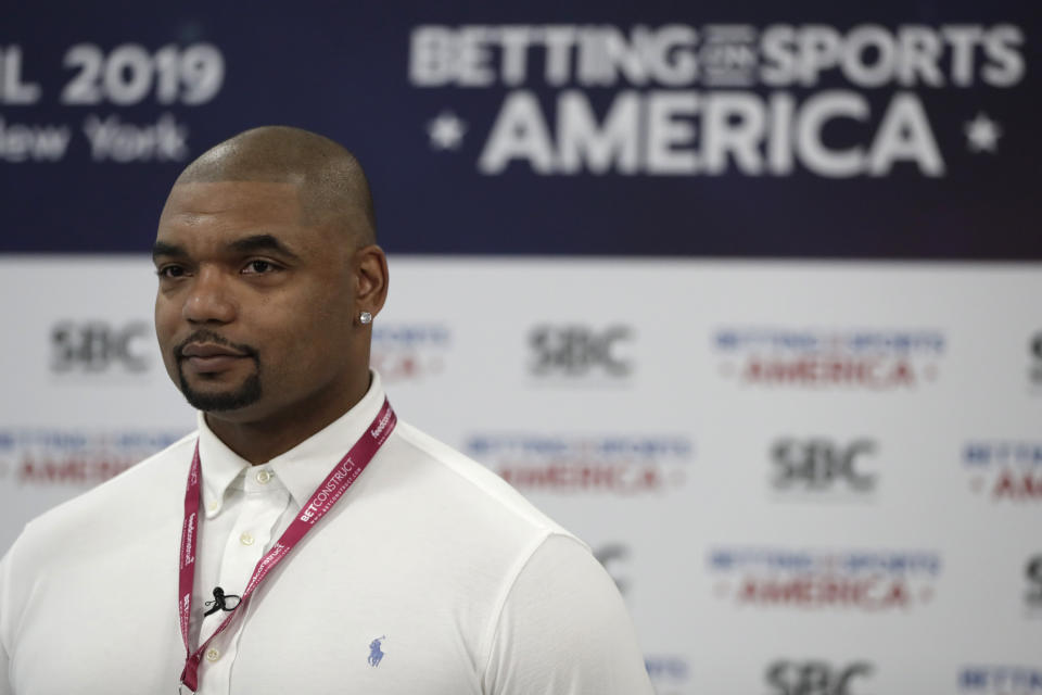 Richard Seymour entered Day 5 of the 2019 WSOP Main Event in 35th place. (AP)