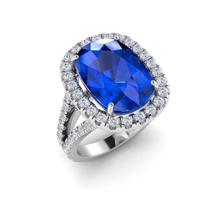 "$1590, Etsy. <a href=""https://www.etsy.com/listing/605702436/elongated-cushion-cut-sapphire"" rel=""nofollow noopener"" target=""_blank"" data-ylk=""slk:Get it now!"" class=""link rapid-noclick-resp"">Get it now!</a>"