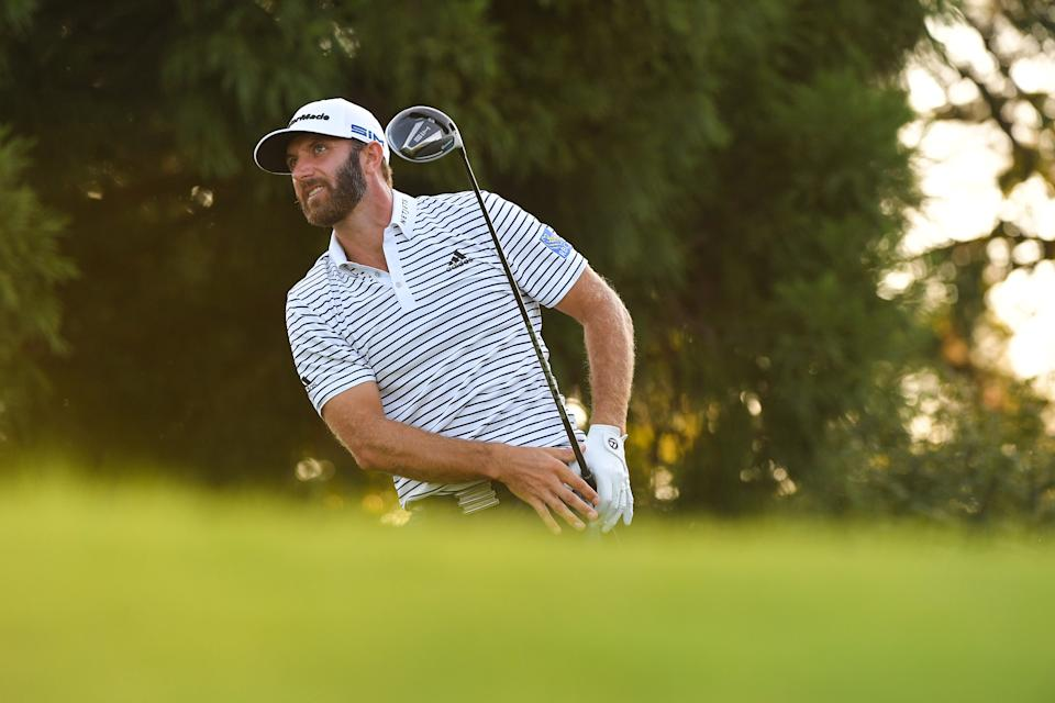 Dustin Johnson leads the field at the Tour Championship by five headed into the final round. (Ben Jared/PGA TOUR/Getty Images)