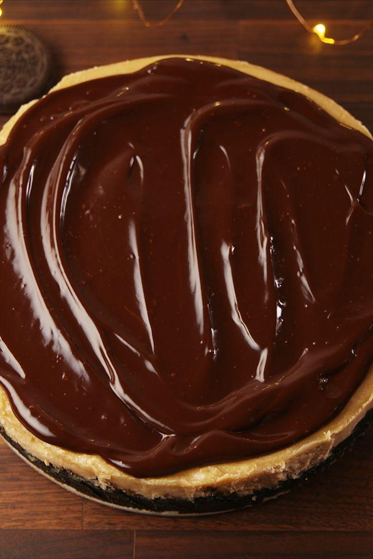 """<p>Satisfy your peanut butter and chocolate craving.</p><p>Get the recipe from <a href=""""https://www.delish.com/cooking/recipe-ideas/recipes/a57122/buckeye-cheesecake-recipe/"""" rel=""""nofollow noopener"""" target=""""_blank"""" data-ylk=""""slk:Delish"""" class=""""link rapid-noclick-resp"""">Delish</a>. </p>"""