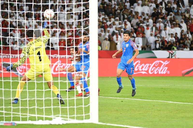 India vs UAE Gurpreet UAE Goal