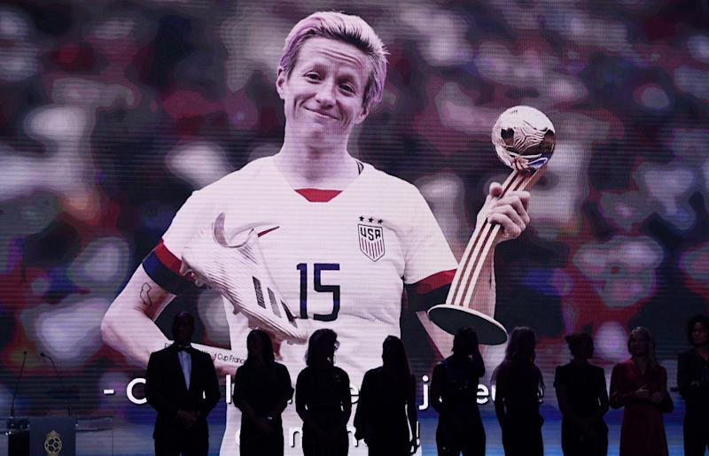 Megan Rapinoe is Sports Illustrated's Sportsperson of the year. (FRANCK FIFE/AFP via Getty Images)